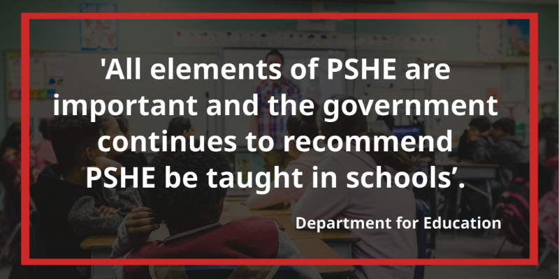 Statutory PSHE Guidance: All elements of PSHE are important